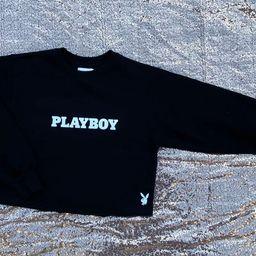 Sexy Playboy Cropped Sweatshirt, TopCrop Hoodie, Loungewear, Streetwear | Etsy (US)