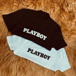 Sexy Playboy crop top, Women Top, Slim Top | Etsy (US)