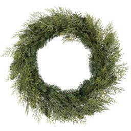 "Holiday Time Unlit Cedar Wreath, 24"" | Walmart (US)"