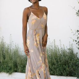 Jocelyn V-Neck Cami Maxi Dress   Morning Lavender