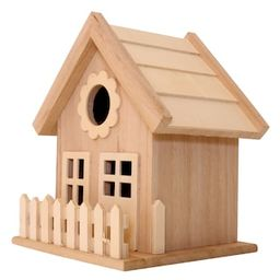 Wood Birdhouse with Fence by ArtMinds® | Michaels Stores