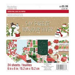 """Say Freeze Christmas Paper Pad by Recollections™, 6"""" x 6"""" 