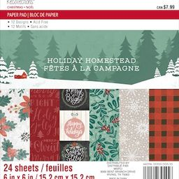 """Holiday Homestead Christmas Paper Pad by Recollections™, 6"""" x 6"""" 
