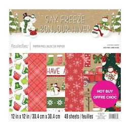 """Say Freeze Paper Pad by Recollections™, 12"""" x 12"""" 