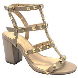 Wild Diva , Susie20 Women's Peep Toe Studded Strappy High Heel Leather Pumps Stilettos Sandals   Walmart (US)