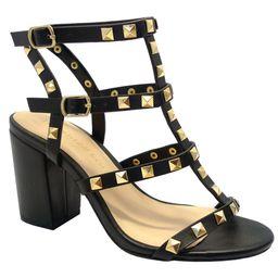 Wild Diva brand Susie20 Women's Peep Toe Studded Strappy High Heel Leather Pumps Stilettos Sandal... | Walmart (US)