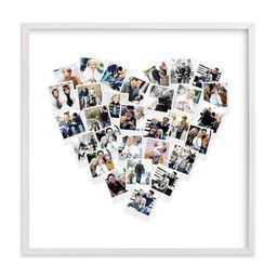 """Heart Snapshot Mix® Photo Art"" - Custom Photo Art Print by Minted. | Minted"