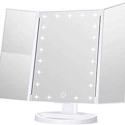 Wondruz Makeup Mirror Vanity Mirror with Lights, 1x 2X 3X Magnification, Touch Screen Switch, Dua... | Amazon (US)