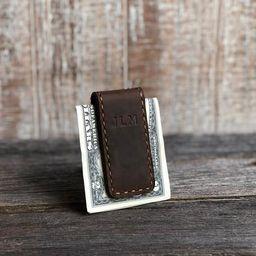 Personalized Leather Money Clip. Custom Money Clip. Engraved | Etsy | Etsy (US)