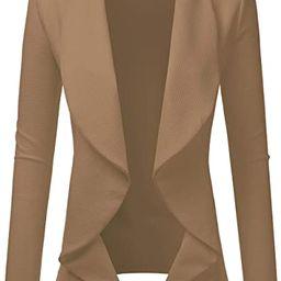 Doublju Classic Draped Open Front Blazer for Women with Plus Size   Amazon (US)