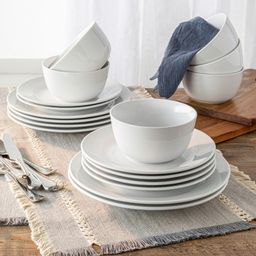 Better Homes & Gardens 18 Piece Porcelain Stanton Round Dinnerware Set | Walmart (US)