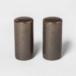 2pc Stoneware Tilley Salt and Pepper Shaker Set Black - Project 62™   Target