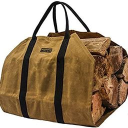 Readywares Waxed Canvas Firewood Log Carrier | Amazon (US)