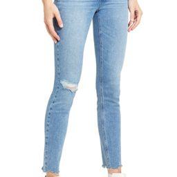 Verdugo Ripped Raw Hem Skinny Jeans   Nordstrom