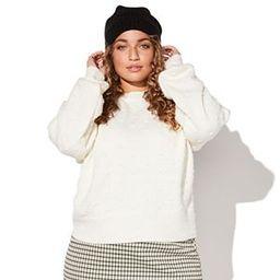 Plus Size EVRI™ Print Drop-Shoulder Crewneck Sweater | Kohl's