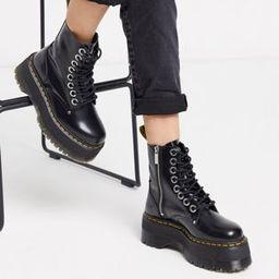 Dr Martens Jadon Max chunky flatform boots in black | ASOS (Global)