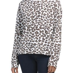 Made In Usa Leopard Seamed Sweatshirt | Long Sleeve Tops | Marshalls | Marshalls