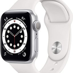 New AppleWatch Series 6 (GPS, 40mm) - Silver Aluminum Case with White Sport Band   Amazon (US)