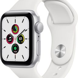 Apple Watch SE (GPS) 40mm Silver Aluminum Case with White Sport Band Silver MYDM2LL/A - Best Buy   Best Buy U.S.
