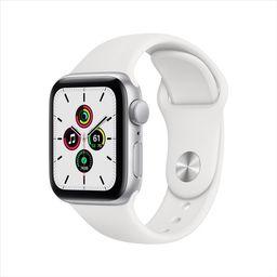 Apple Watch SE GPS, 40mm Silver Aluminum Case with White Sport Band - Regular   Walmart (US)