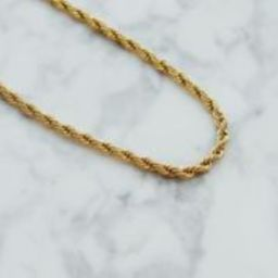 THE FRENCH TWISTED ROPE CHAIN NECKLACE (Two Styles) | Shapes Studio