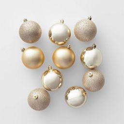50ct Christmas 70mm Ornament Set Champagne - Wondershop™ | Target