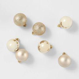 24ct/40mm Christmas Ornament Set Champagne - Wondershop™ | Target