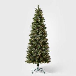 7.5ft Pre-lit Artificial Christmas Tree Slim Virginia Pine with Clear Lights - Wondershop™ | Target
