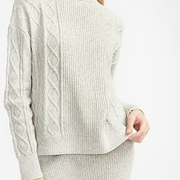 Express X You Cable Knit Mock Neck Sweater Gray Women's XL | Express