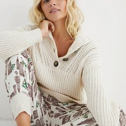 Aerie Button Mock Neck Sweater | American Eagle Outfitters (US & CA)