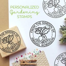 From the Garden of Stamp, Gardener Gift, Gardening Gift, Canning Label Stamp - Personalized   Etsy (CAD)