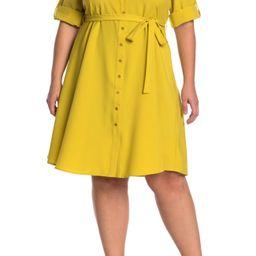 Sharagano | Roll Sleeve Tie Waist Shirt Dress | Nordstrom Rack | Nordstrom Rack
