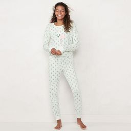 Women's LC Lauren Conrad Extra Soft Pajama Shirt & Pajama Pants Set   Kohl's
