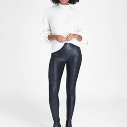 Faux Leather Quilted Leggings   Spanx
