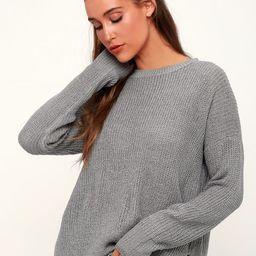 Alyssa Grey Knit Sweater   Lulus (US)