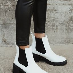 Waylen White Ankle Boots   Lulus (US)