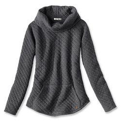 Quilted Cowlneck Sweatshirt   Orvis (US)