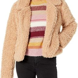 [BLANKNYC] womens Wome's Curly Hair Faux Fur Cropped Jacket | Amazon (US)