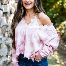 Take The Time Mauve Pink Tie Dye Sweater | The Mint Julep Boutique