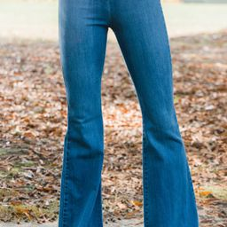 Go Have A Good Time Medium Wash Flare Jeggings | The Mint Julep Boutique