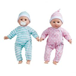 Melissa & Doug Mine to Love Twins Luke & Lucy 15 in. Boy and Girl Baby Dolls with Rompers, Caps, ...   Kohl's