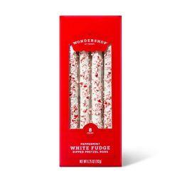 Peppermint Pretzel Rods Dipped in White Fudge - 6.5oz - Wondershop™ | Target