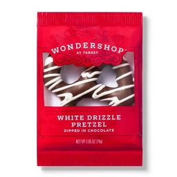 White Drizzle Pretzel Dipped In Chocolate - 1.25oz - Wondershop™ | Target