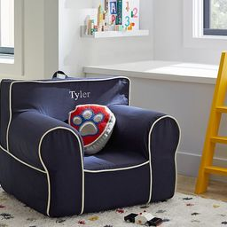 Navy with White Piping Anywhere Chair®   Pottery Barn Kids