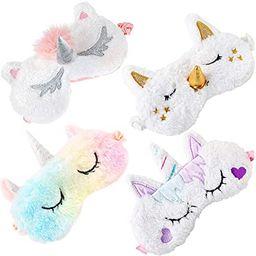 Kids Sleep Mask,Aniwon 4 Pack Cute Eye Mask for Sleeping Unicorn Sleep Mask Night Blindfold Bed E... | Amazon (US)