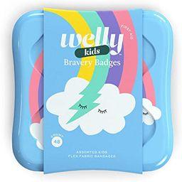 Welly Bandages - Bravery Badges, Flexible Fabric, Adhesive, Assorted Shapes, Rainbow and Unicorn ... | Amazon (US)