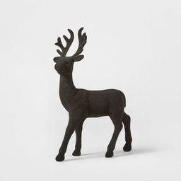Flocked Deer Decorative Figurine Black - Wondershop™ | Target