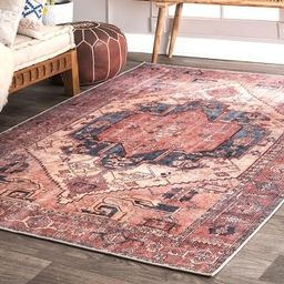 nuLOOM Transitional Faded Duval Medieval Medallion Area Rug (2' x 3' - Peach)   Overstock