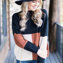 More To Love Black Colorblock Sweater | The Mint Julep Boutique