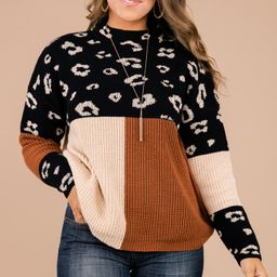 See You Soon Black Colorblock Sweater | The Mint Julep Boutique